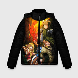 Куртка зимняя для мальчика Fairy tail цвета 3D-черный — фото 1