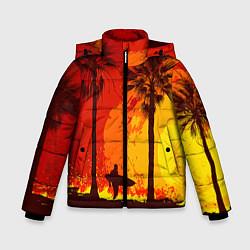 Куртка зимняя для мальчика Summer Surf цвета 3D-черный — фото 1