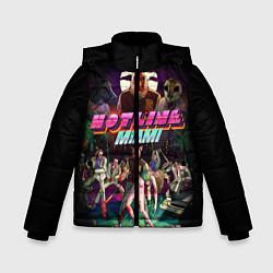 Куртка зимняя для мальчика Hotline Miami цвета 3D-черный — фото 1