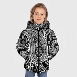 Куртка зимняя для мальчика Paisley цвета 3D-черный — фото 2