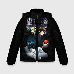 Куртка зимняя для мальчика Тетрадь смерти 1 цвета 3D-черный — фото 1