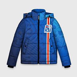 Куртка зимняя для мальчика Сборная Исландии по футболу цвета 3D-черный — фото 1