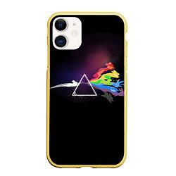 Чехол iPhone 11 матовый Покемоны цвета 3D-желтый — фото 1
