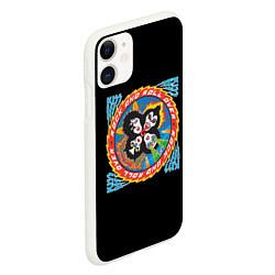 Чехол iPhone 11 матовый KISS: Over цвета 3D-белый — фото 2