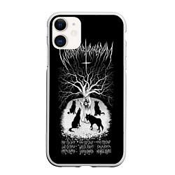 Чехол iPhone 11 матовый Wolves in the Throne Room цвета 3D-белый — фото 1