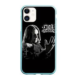 Чехол iPhone 11 матовый Оззи Осборн цвета 3D-мятный — фото 1