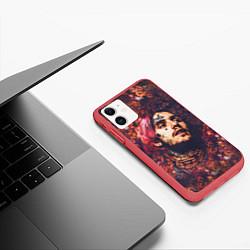Чехол iPhone 11 матовый Lil Peep: Cry baby цвета 3D-красный — фото 2