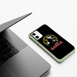 Чехол iPhone 11 матовый АлисА: Коловрат цвета 3D-салатовый — фото 2
