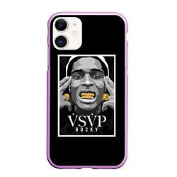 Чехол iPhone 11 матовый ASAP Rocky: Gold Edition цвета 3D-сиреневый — фото 1