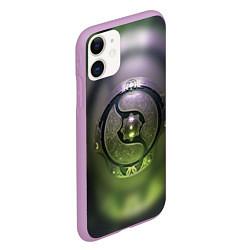 Чехол iPhone 11 матовый The International: Aegis 2018 цвета 3D-сиреневый — фото 2