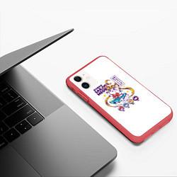 Чехол iPhone 11 матовый Sailor Meow цвета 3D-красный — фото 2