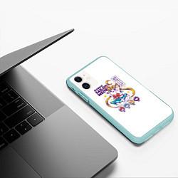 Чехол iPhone 11 матовый Sailor Meow цвета 3D-мятный — фото 2