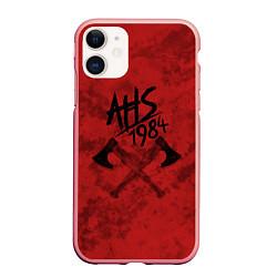 Чехол iPhone 11 матовый American Horror Story цвета 3D-баблгам — фото 1