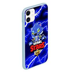 Чехол для iPhone 11 матовый с принтом BRAWL STARS LEON, цвет: 3D-голубой, артикул: 10202825505889 — фото 2