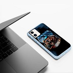 Чехол iPhone 11 матовый Никто кроме нас цвета 3D-голубой — фото 2