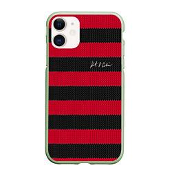 Чехол iPhone 11 матовый Автограф Курта Кобейна цвета 3D-салатовый — фото 1