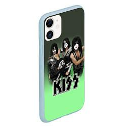 Чехол iPhone 11 матовый Kiss цвета 3D-голубой — фото 2