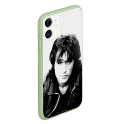 Чехол iPhone 11 матовый Кино: Виктор Цой цвета 3D-салатовый — фото 2