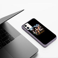 Чехол iPhone 11 матовый Kiss Monster цвета 3D-серый — фото 2