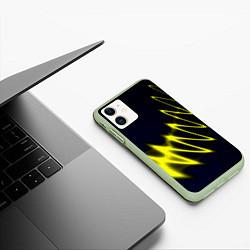Чехол iPhone 11 матовый Молния цвета 3D-салатовый — фото 2