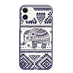 Чехол iPhone 11 матовый Африка цвета 3D-серый — фото 1