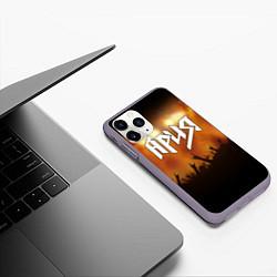 Чехол iPhone 11 Pro матовый Ария цвета 3D-серый — фото 2