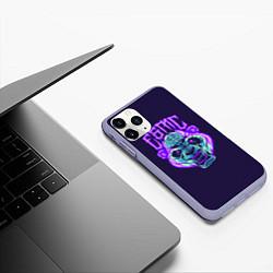 Чехол iPhone 11 Pro матовый Evil Panda цвета 3D-светло-сиреневый — фото 2