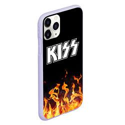 Чехол iPhone 11 Pro матовый Kiss: Hell Flame цвета 3D-светло-сиреневый — фото 2