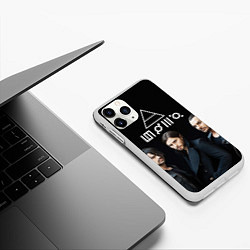 Чехол iPhone 11 Pro матовый 30 seconds to mars цвета 3D-белый — фото 2