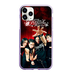 Чехол iPhone 11 Pro матовый Bullet for my valentine цвета 3D-светло-сиреневый — фото 1