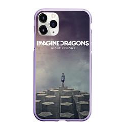 Чехол iPhone 11 Pro матовый Imagine Dragons: Night Visions цвета 3D-светло-сиреневый — фото 1