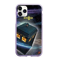 Чехол iPhone 11 Pro матовый Police Box цвета 3D-светло-сиреневый — фото 1