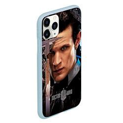 Чехол iPhone 11 Pro матовый Доктор кто цвета 3D-голубой — фото 2