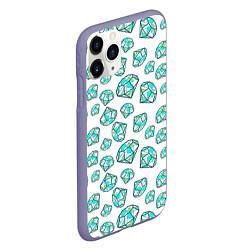 Чехол iPhone 11 Pro матовый Бриллианты цвета 3D-серый — фото 2