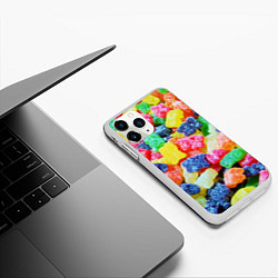 Чехол iPhone 11 Pro матовый Мармеладные мишки цвета 3D-белый — фото 2