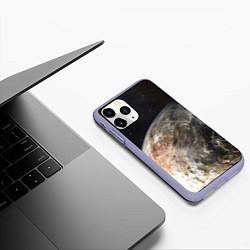 Чехол iPhone 11 Pro матовый Плутон цвета 3D-светло-сиреневый — фото 2