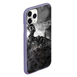 Чехол iPhone 11 Pro матовый Black Veil Brides: Faithless цвета 3D-серый — фото 2
