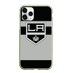 Чехол iPhone 11 Pro матовый Los Angeles Kings цвета 3D-салатовый — фото 1