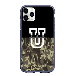 Чехол iPhone 11 Pro матовый FCK U: Camo
