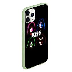 Чехол iPhone 11 Pro матовый KISS: Acid Colours цвета 3D-салатовый — фото 2
