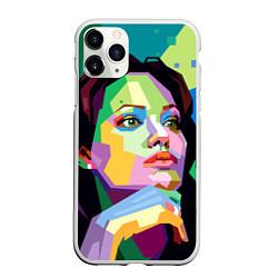 Чехол iPhone 11 Pro матовый Angelina Jolie: Art цвета 3D-белый — фото 1