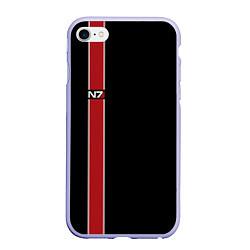 Чехол iPhone 6/6S Plus матовый Mass Effect N7 цвета 3D-светло-сиреневый — фото 1