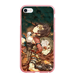 Чехол iPhone 6/6S Plus матовый Воин крепости цвета 3D-баблгам — фото 1