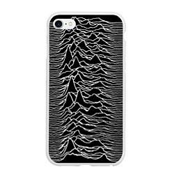 Чехол iPhone 6/6S Plus матовый Joy Division: Unknown Pleasures цвета 3D-белый — фото 1