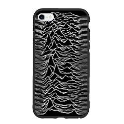 Чехол iPhone 6/6S Plus матовый Joy Division: Unknown Pleasures цвета 3D-черный — фото 1