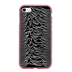Чехол iPhone 6/6S Plus матовый Joy Division: Unknown Pleasures цвета 3D-малиновый — фото 1