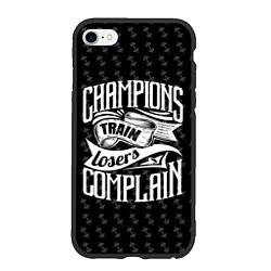 Чехол iPhone 6/6S Plus матовый Champions Train цвета 3D-черный — фото 1