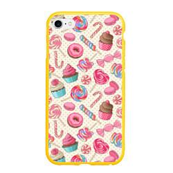 Чехол iPhone 6/6S Plus матовый Радости для сладости цвета 3D-желтый — фото 1