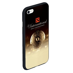 Чехол iPhone 6/6S Plus матовый The International Championships цвета 3D-черный — фото 2