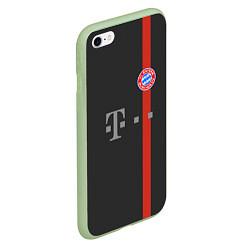 Чехол iPhone 6/6S Plus матовый Bayern FC: Black 2018 цвета 3D-салатовый — фото 2